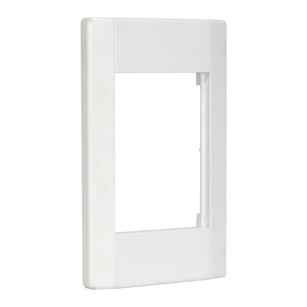 Pacote c/ 5 Pçs de Espelho 4x2 (12 cm x 7,5 cm) 02 Saídas RJ Modulo Removível Branco