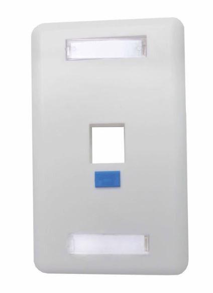 Pacote c/ 5 Pçs de Espelho 4x2 1 saída p/ conector RJ45