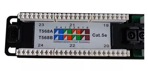 Patch Panel 24 portas RJ45 Cat5e - Nexans