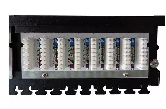 Patch Panel 48 portas 1U RJ45 Cat5e - Nexans