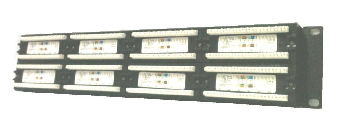 Patch Panel RJ45 Fêmea Cat6 48 Portas padrão 19 polegadas - Pier