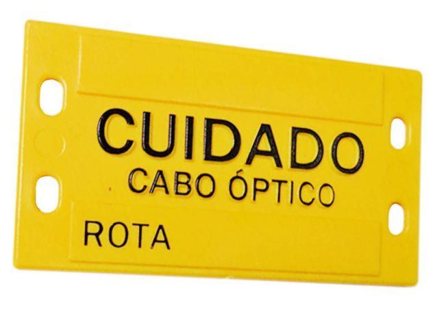 PI Plaqueta de Identificação 3mm (9x4cm) em plástico c/ Relevo amarela