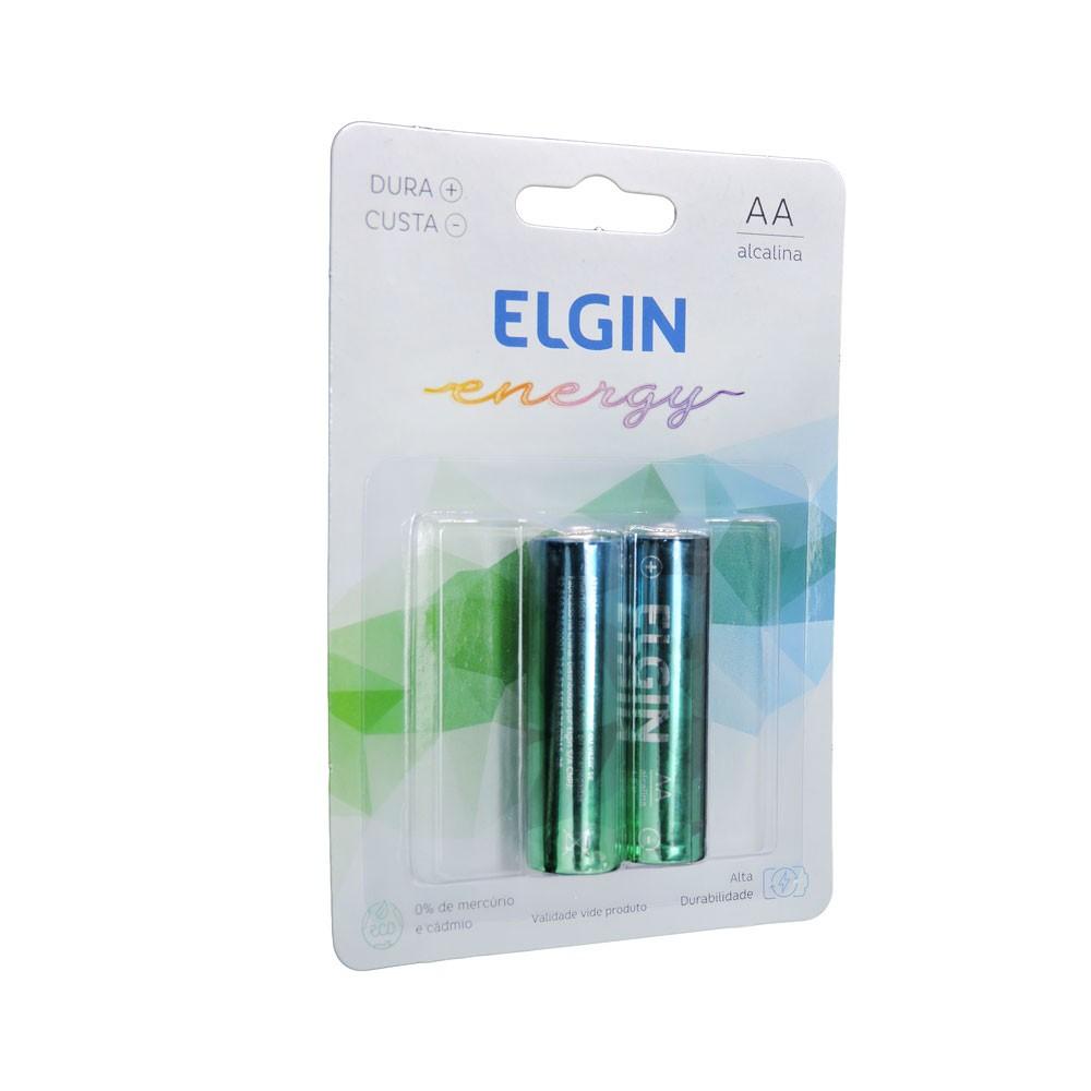 Pilha AA Alcalina 2 Unidades Elgin LR06