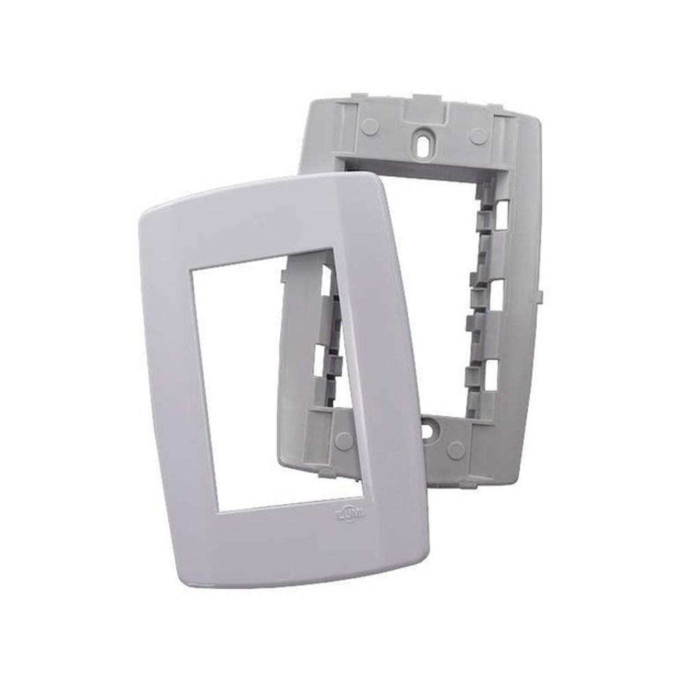 Placa 4x2 3 Posições Com Suporte - Linha Slim - Ilumi