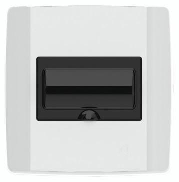 Quadro Distribuição Para 4/6 Polos De Disjuntor NEMA/DIN Sem Barramento - Lente Fume - ILUMI