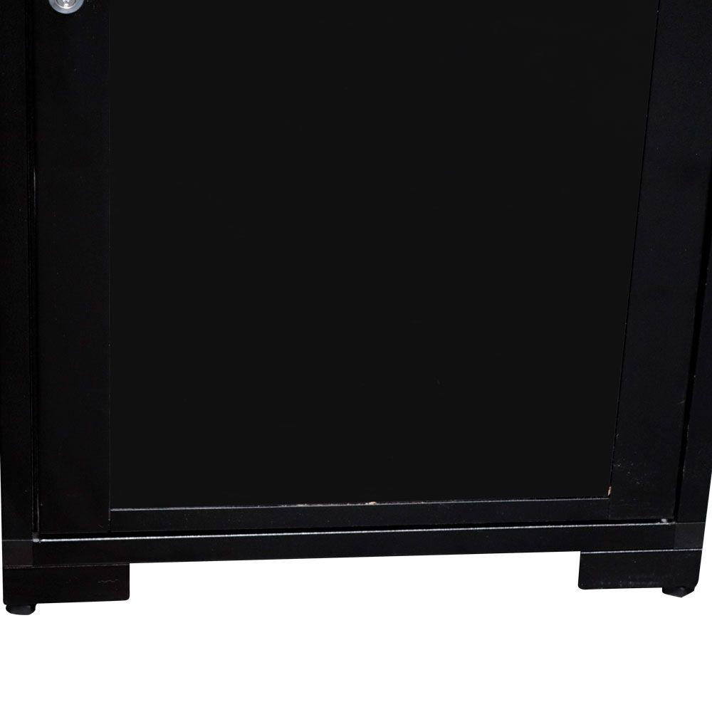 RACK de PISO Padrão 19'' Para Cabeamento Estruturado e CFTV 20U X 670mm Preto Texturizado