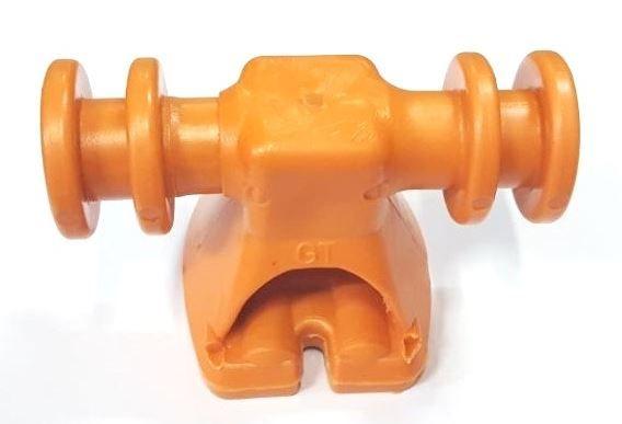 SIP4 Suporte Isolador plástico para BAP 4 canais - Laranja