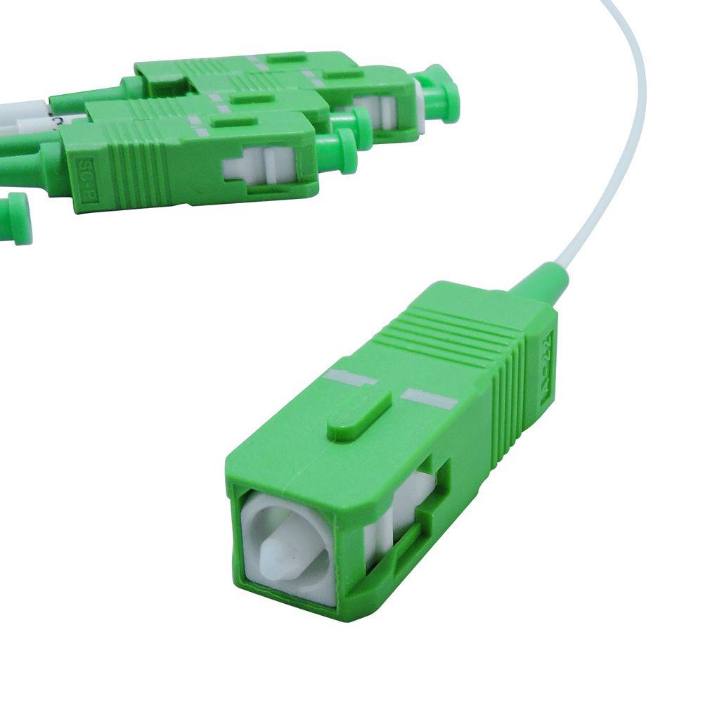 Splitter Óptico Plc 1x8 Conectorizado Sm Sc-apc Fibra Óptica