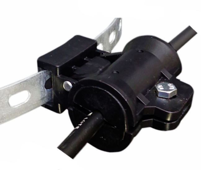 Suporte Dielétrico Conico Preto Simples 8MM com passante p/ Bap
