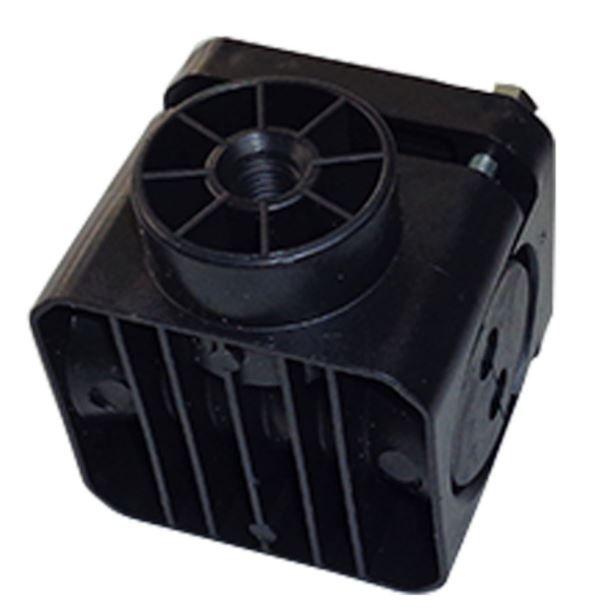 Suporte Dielétrico quadrado duplo preto 8MM