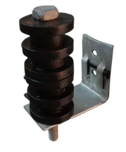Suporte DMP Completo c/ 2 Roldanas de PVC 4 canais e Parafuso longo