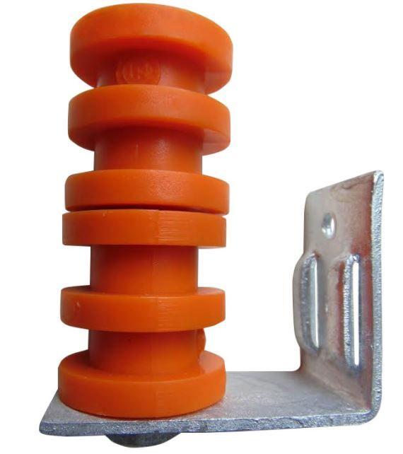 Suporte DMP Completo c/ Parafuso PR90 e 2 Roldanas de PVC 4 canais LARANJA