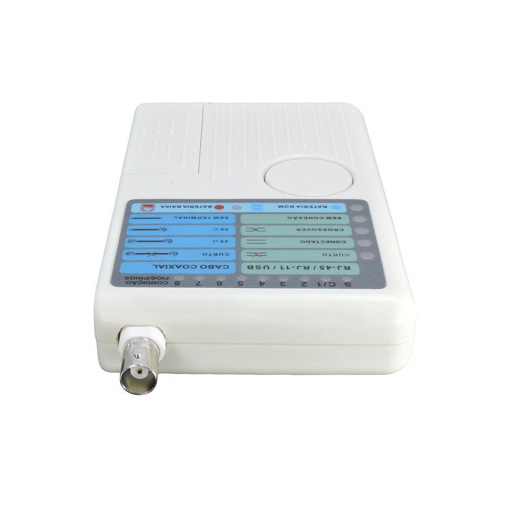 Testador de Cabos MT200 p/ Cabo UTP CATV CABLE MODEM USB