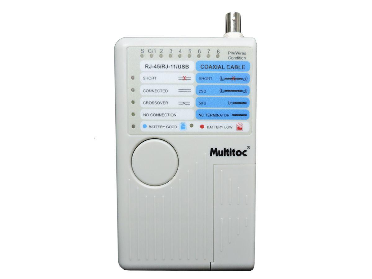 Testador de Cabos MT200 p/ Cabo UTP  CATV  CABLE MODEM  USB - GCT