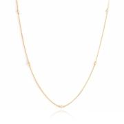 Colar Longo estilo Tiffany com Zircônia banho Ouro 18k