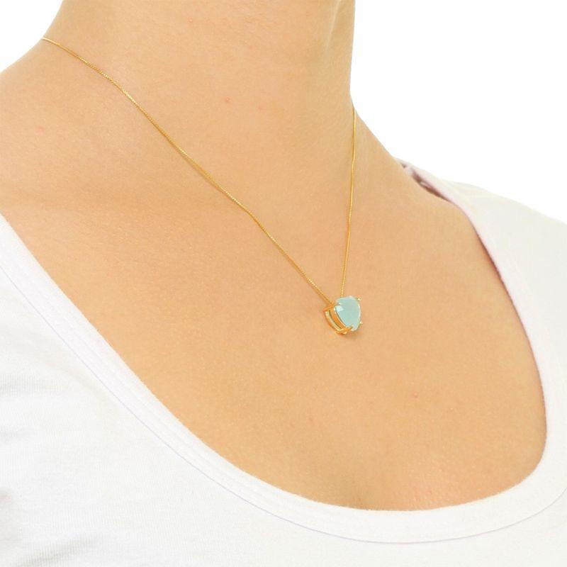 Conjunto Coração Médio em Cristal Verde Esmeralda fosco com banho em Ródio Branco