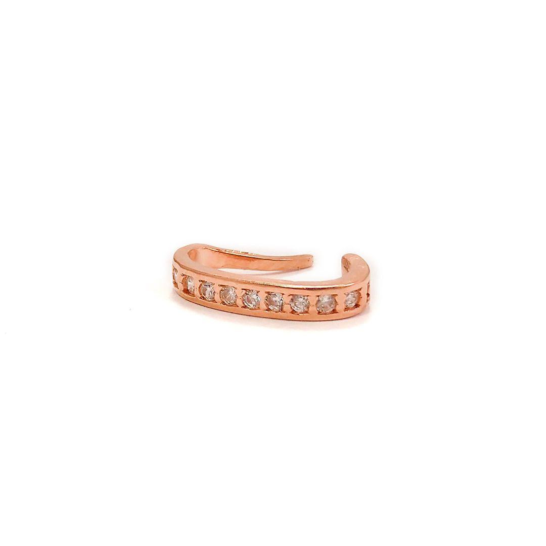 Piercing Fake Cravejado banho Rosé Gold