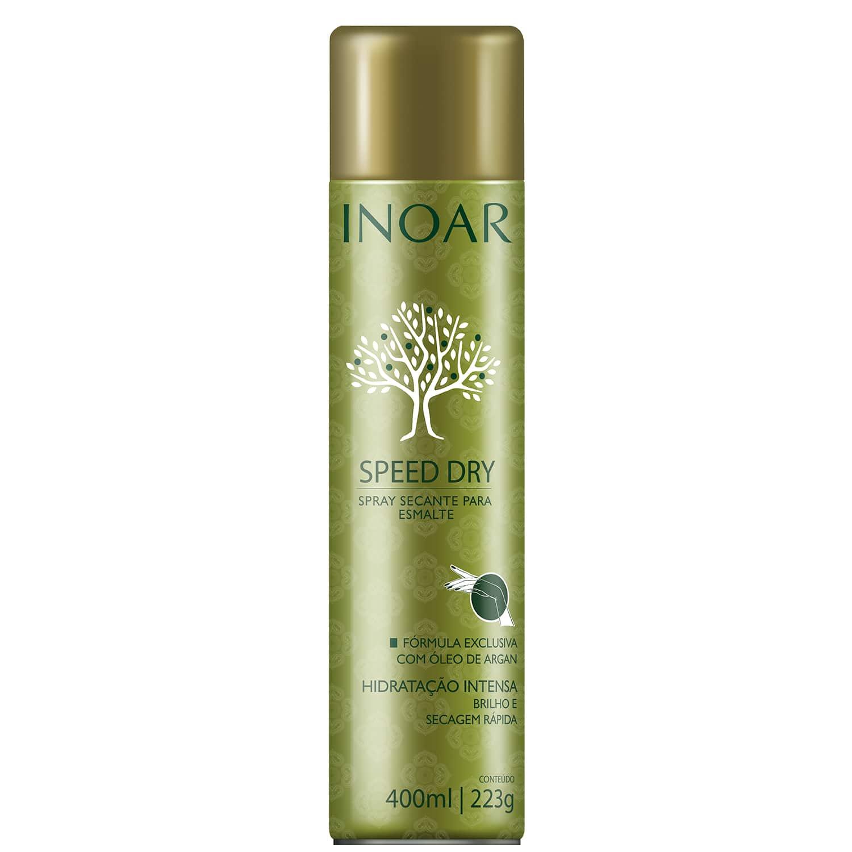 01 Inoar Speed Dry Spray Secante Para Esmalte 400ml  - Sílvia Pedrarias & Cia