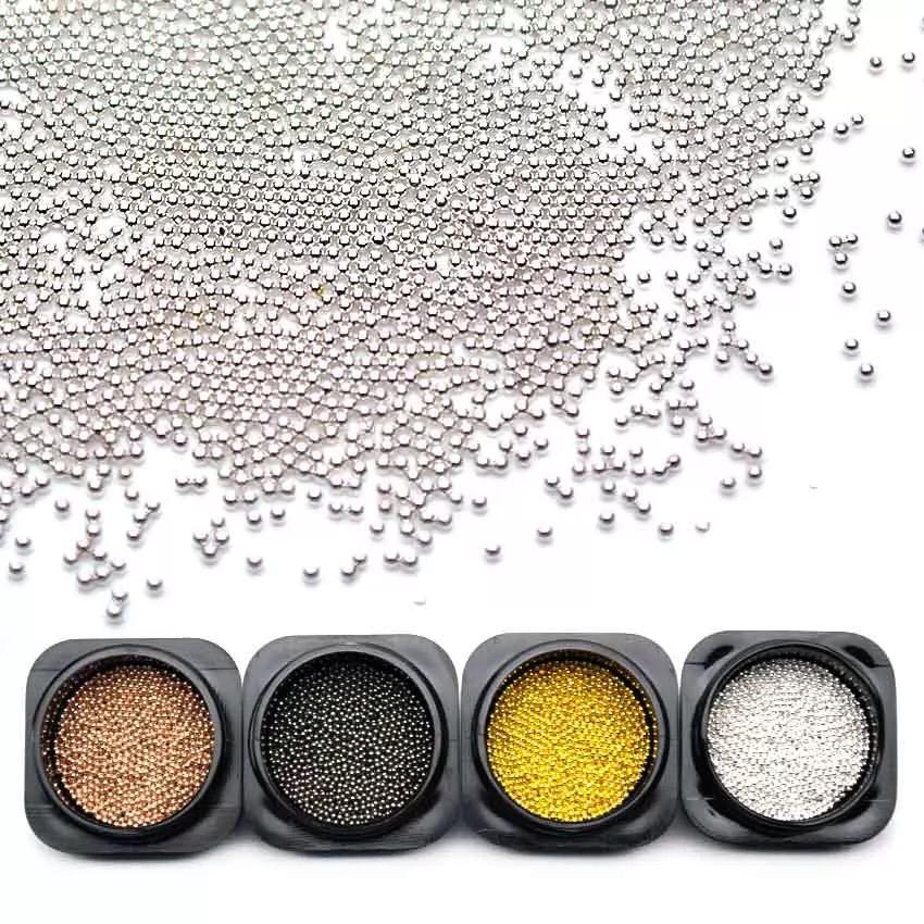 10g caviar de metal 1mm no potinho (pedraria)  - Sílvia Pedrarias & Cia