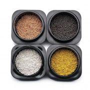 10g caviar de metal 1mm no potinho (pedraria)
