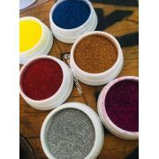 Caixa com 06 glitter fino Helen Color tons escuros (ref04)