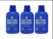 Kit 03 acetonas CRUZEIRO 95ml