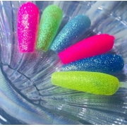 Kit 06 glitter fino neon