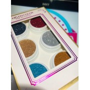 Kit com 06 glitter novos tons Helen Color (ref03)
