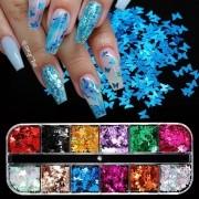 kit glitter borboleta pra encapsular