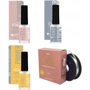 KV10 Kit volia desidratador + primer sem acido + primer com acido + fibra volia cosmeticos vòlia