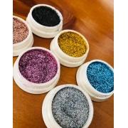 Novo glitter fino para unhas Helen color caixa com 06