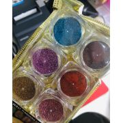 Pacotinho com 06 glitter ultrafino