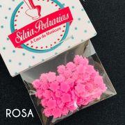 Rosa 3d 5mm varias opcoes em cores (pedraria)