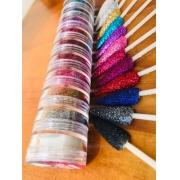 Torre I LOVE GLITTER torre com 12 cores glitter fino
