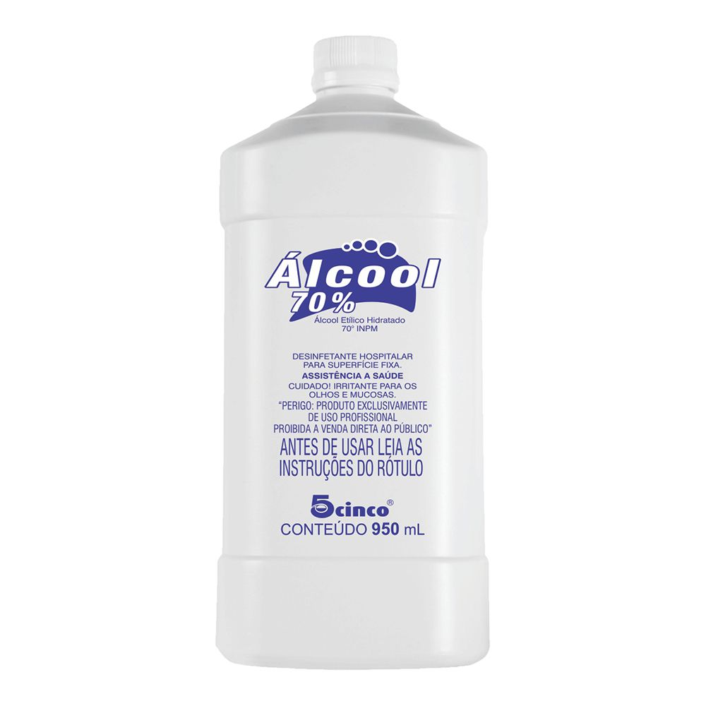Alcool 70% cinco 950ml  - Sílvia Pedrarias & Cia