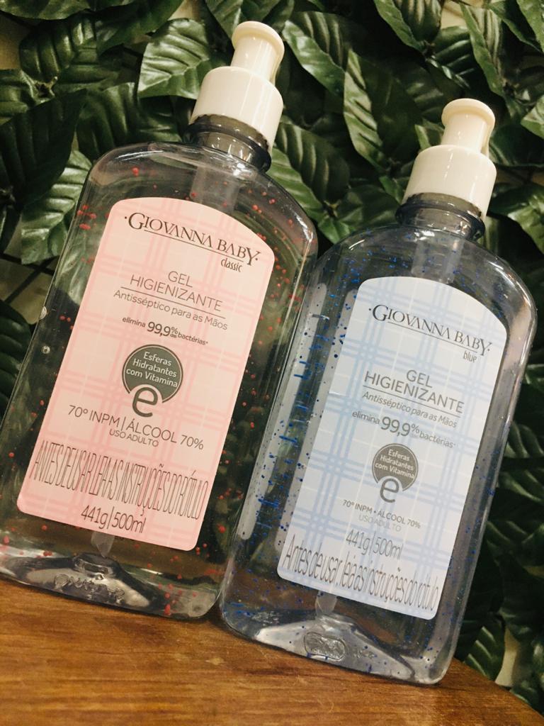 Álcool em Gel Higienizante Giovanna Baby 500ml 70º  - Sílvia Pedrarias & Cia