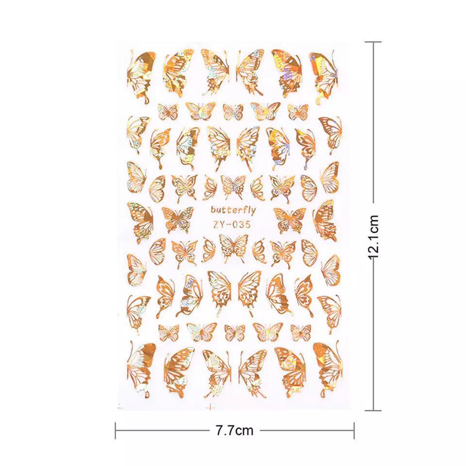 Cartela de adesivo borboleta holográfico  - Sílvia Pedrarias & Cia