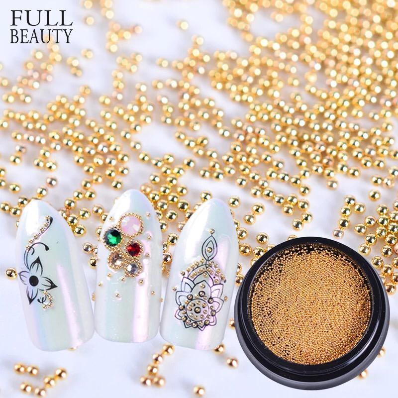 Caviar dourado de metal 0.8mm no potinho  - Sílvia Pedrarias & Cia