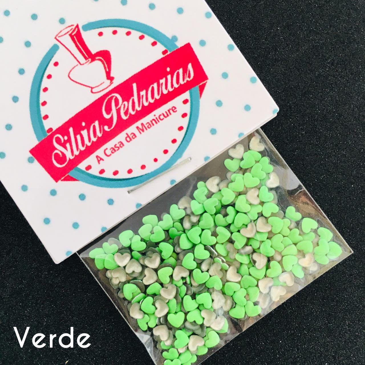 Chapinha coracao 3mm opcoes em cores (pedraria)  - Sílvia Pedrarias & Cia