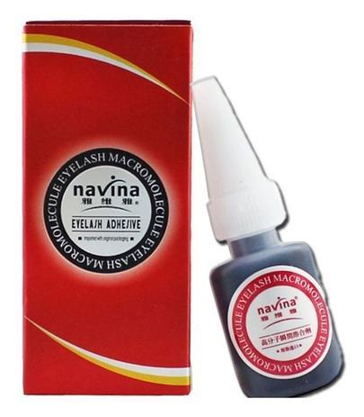 Cola Para Alongamento De Cílios Navina Macromolecular - embalagem vermelha  - Sílvia Pedrarias & Cia