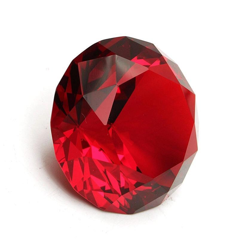 Diamante vermelho G  - Sílvia Pedrarias & Cia
