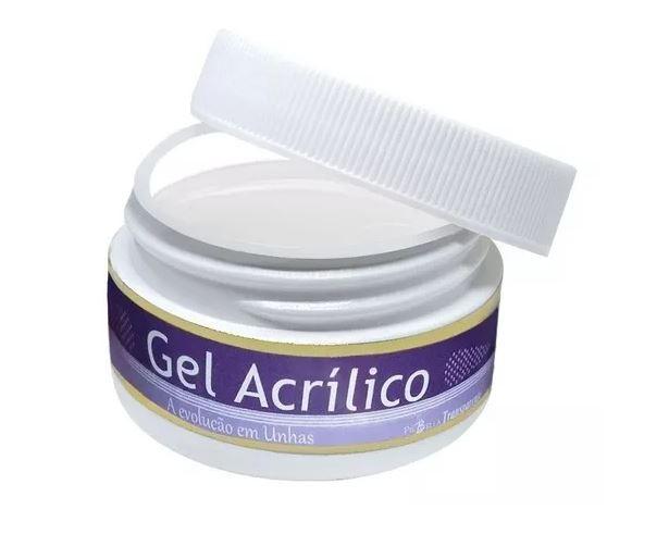 Gel acrilico piubella 14g Transparente   - Sílvia Pedrarias & Cia