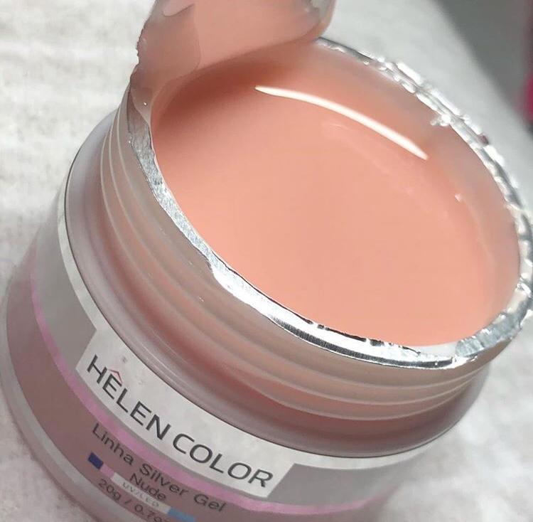 Gel Helen Color builder tampa prata NUDE 20g  - Sílvia Pedrarias & Cia