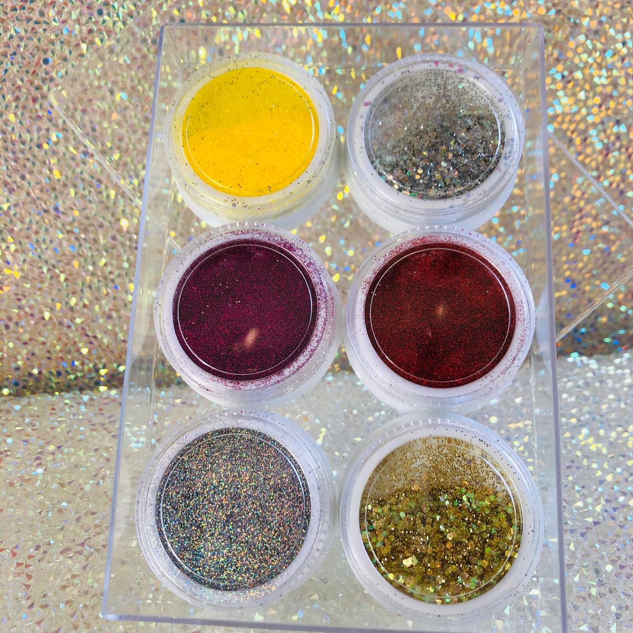 Kit 06 glitter fino misto  - Sílvia Pedrarias & Cia