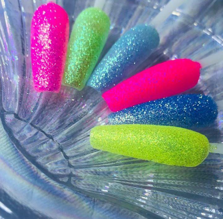 Kit 06 glitter fino neon  - Sílvia Pedrarias & Cia