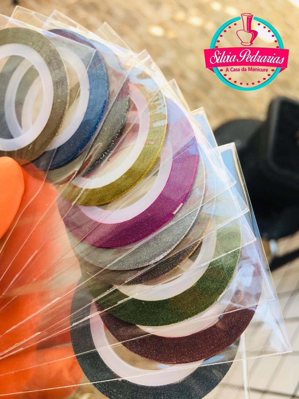 Kit 10 cores fio de ouro metalizado com glitter  - Sílvia Pedrarias & Cia