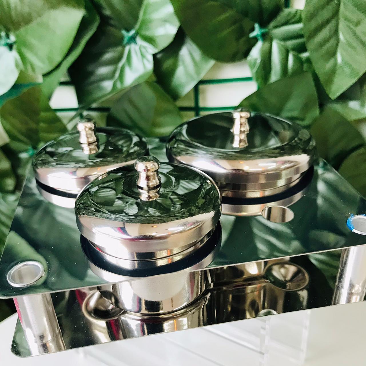 Kit dappen porta monomer luxo 3 peças   - Sílvia Pedrarias & Cia