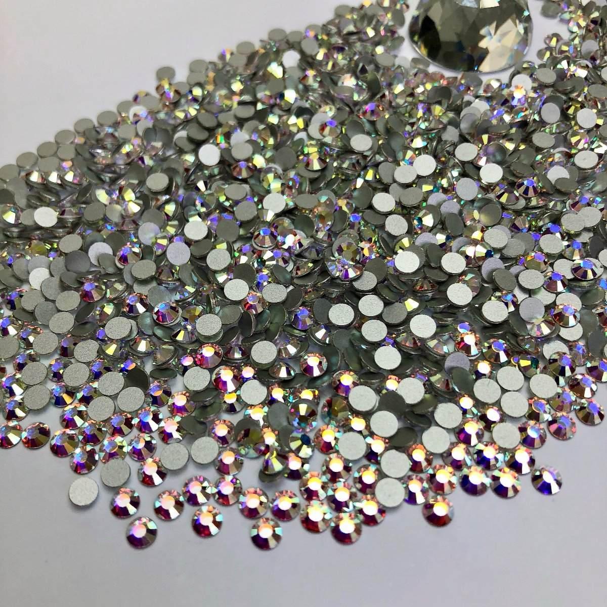 Pacote cristal similar ao swarovski com 1440 peças FURTA COR (pedraria)  - Sílvia Pedrarias & Cia