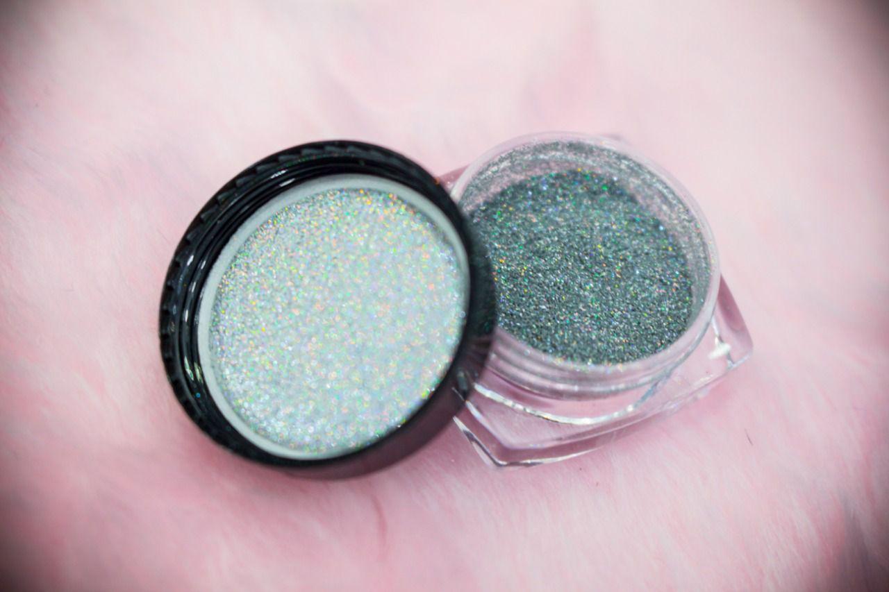 Pó cromado glitter ultrafino para unhas   - Sílvia Pedrarias & Cia