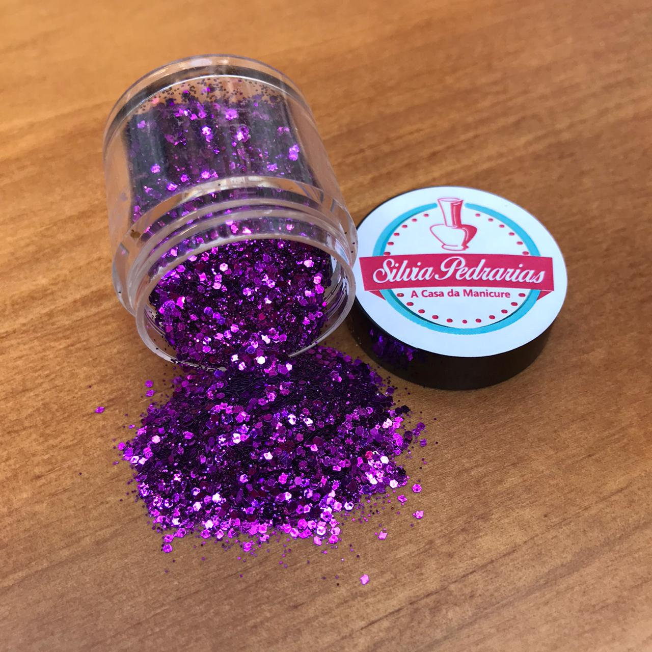 Pote glitter flocado (várias opções em cores)  - Sílvia Pedrarias & Cia